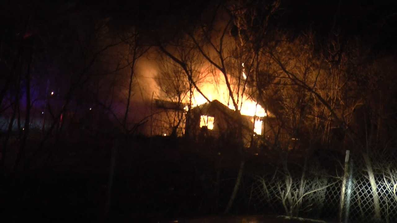 Tulsa Firefighters Investigate Arson In Double House Fire