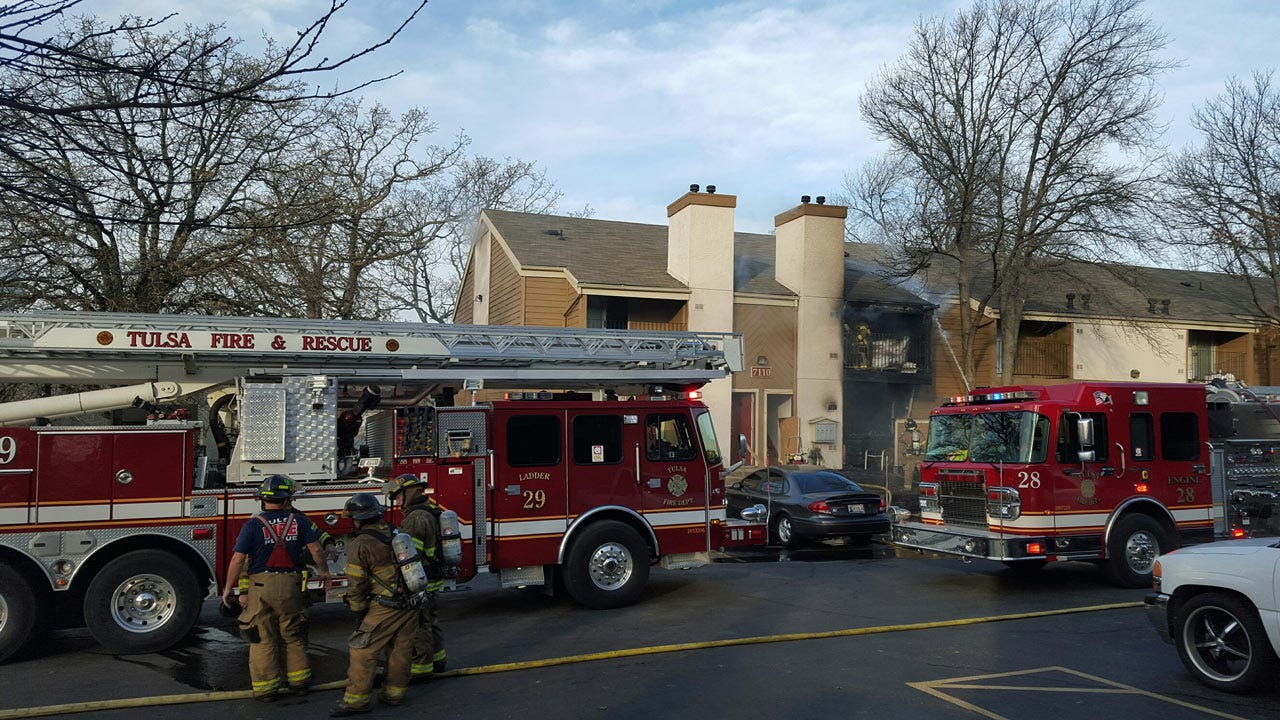 Fire Damages South Tulsa Apartment