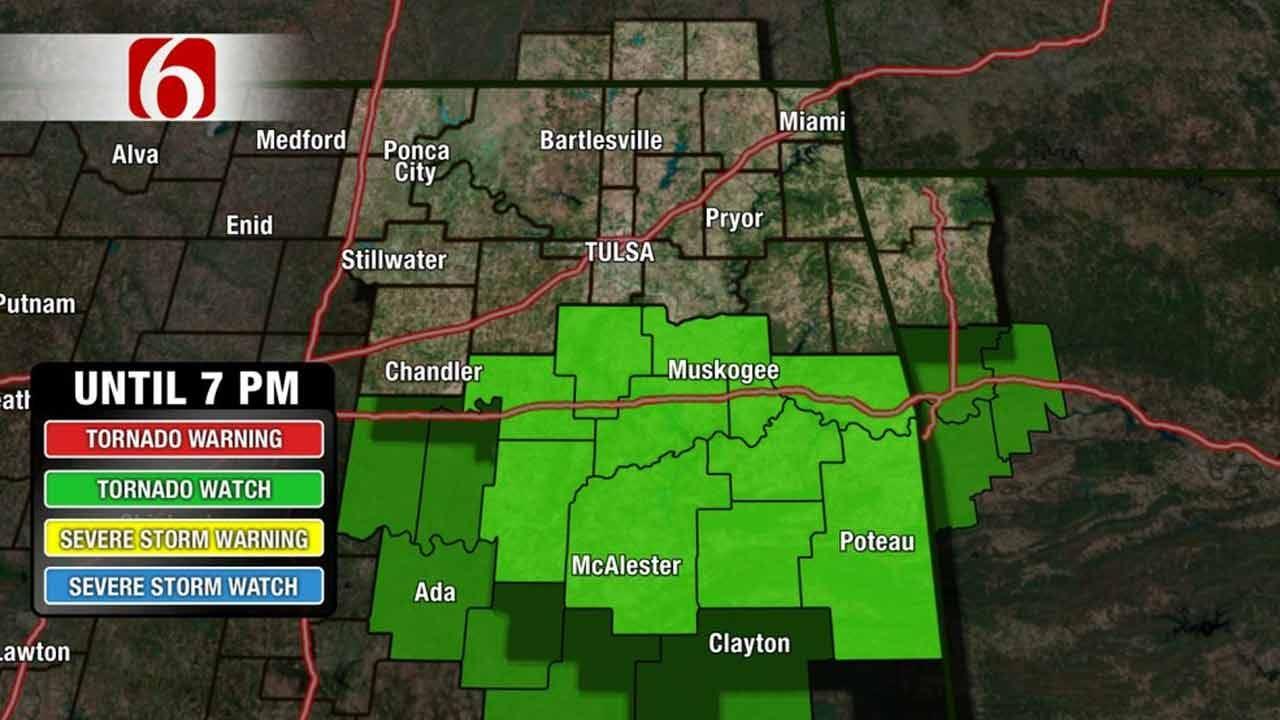Tornado Watch In Effect Across Southeast Oklahoma