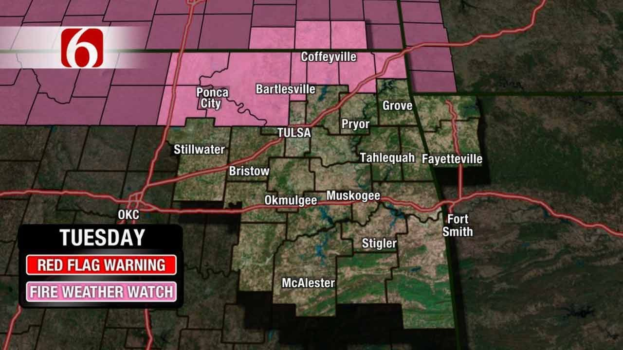 Fire Weather Watch Set For Part Of NE Oklahoma Tuesday