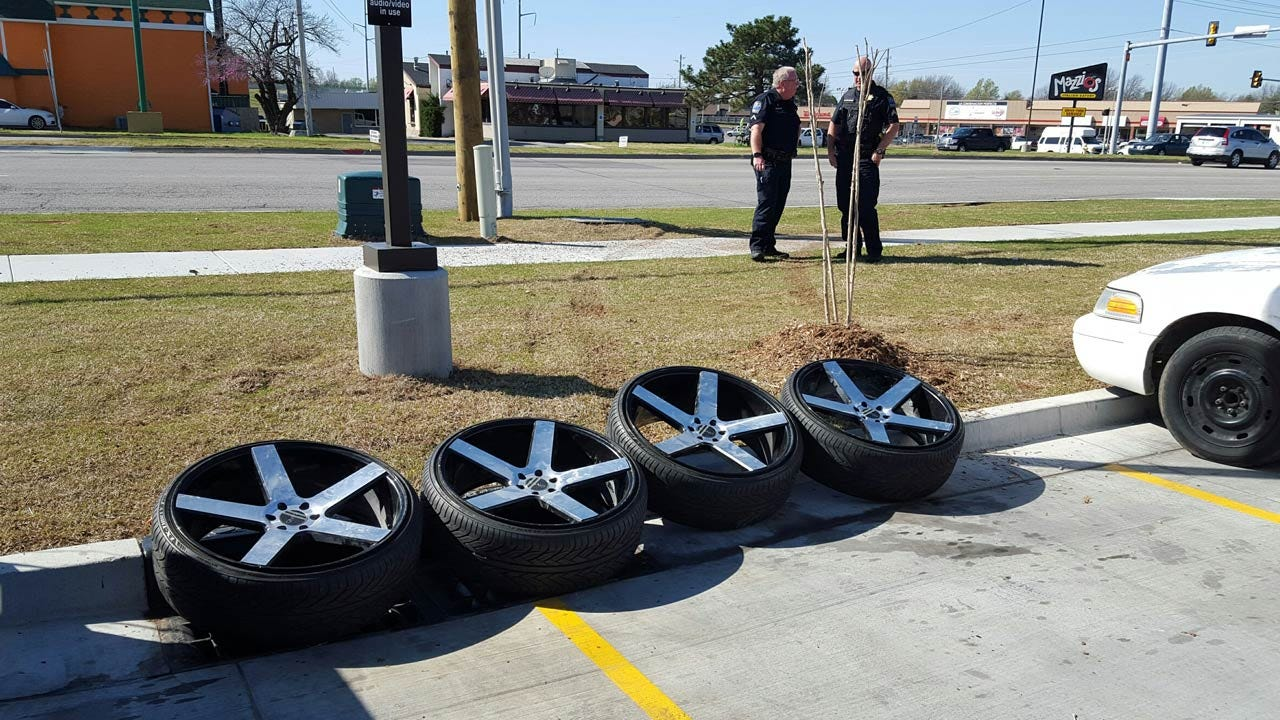Tulsa Man Helps Police Recover His Stolen Rims