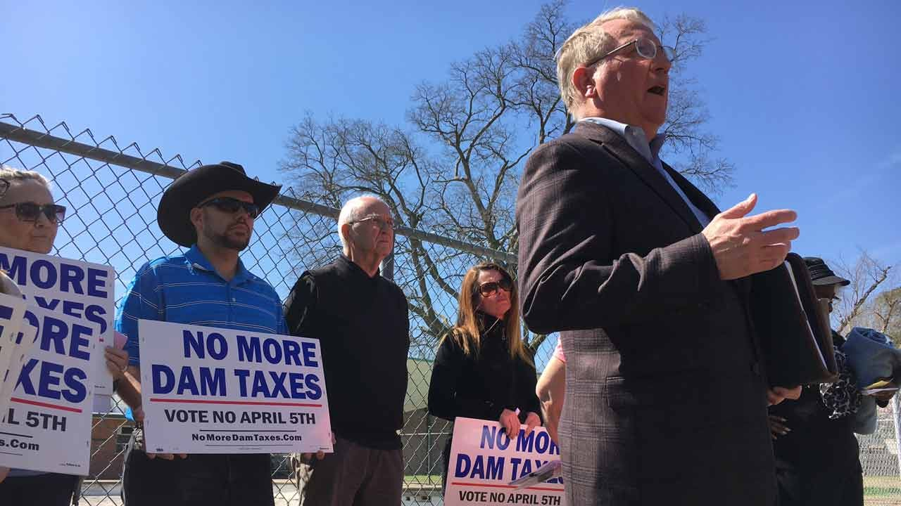 'No More Dam Taxes,' Tulsa Vision Opposition Group Urges