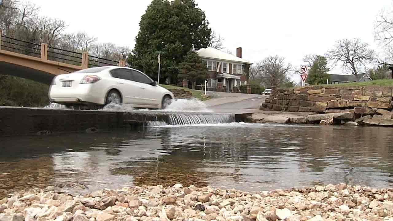 City Of Tahlequah Hopes Permanent Barriers Keep Drivers Safe During Floods