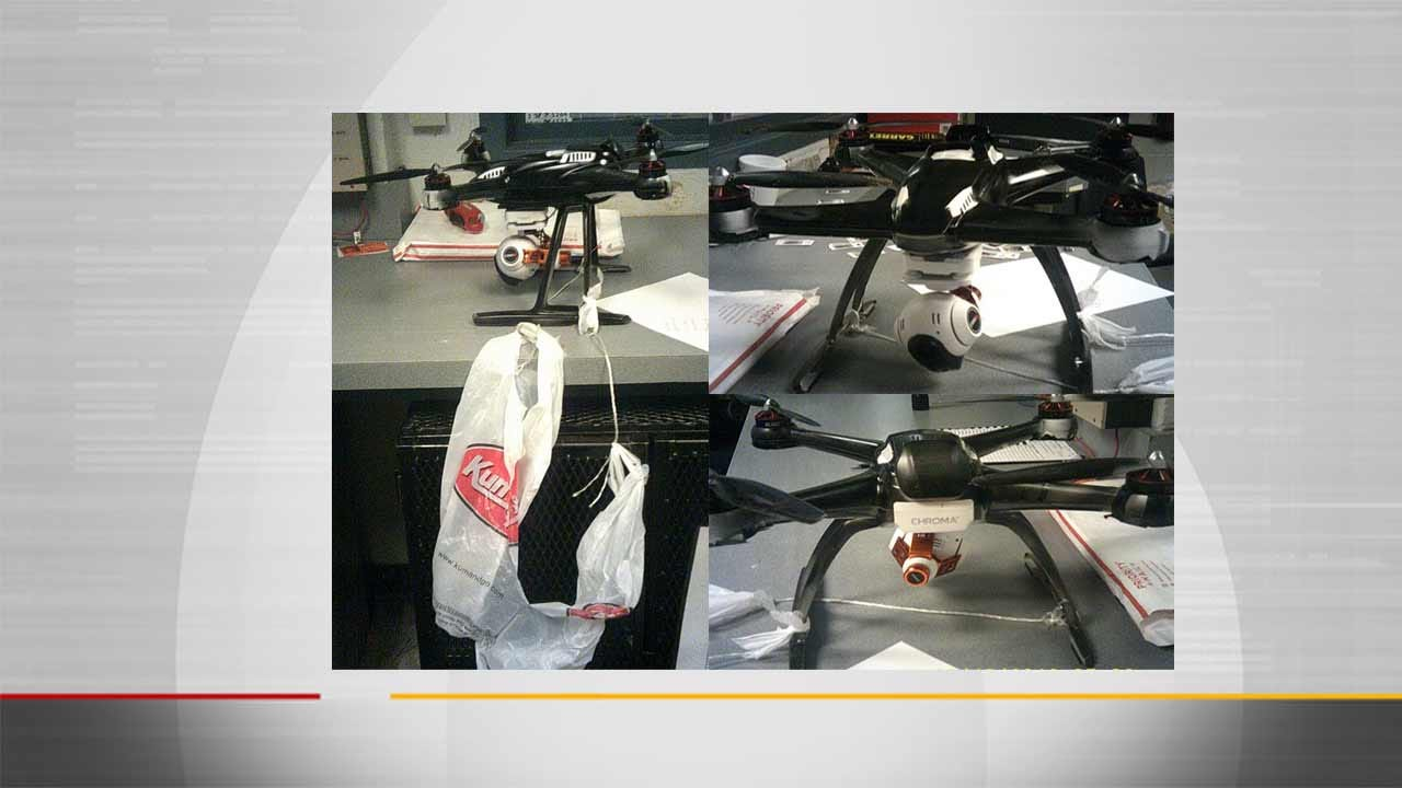 Officers Locate Crashed Drone Carrying Cellphones At Cimarron Correctional