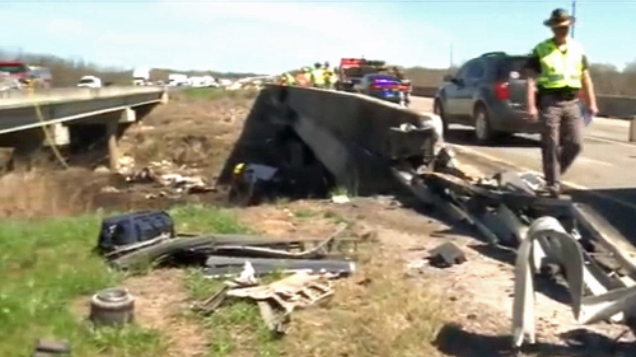 Thousands Of Cucumbers Spilled In Atoka County Semi Crash