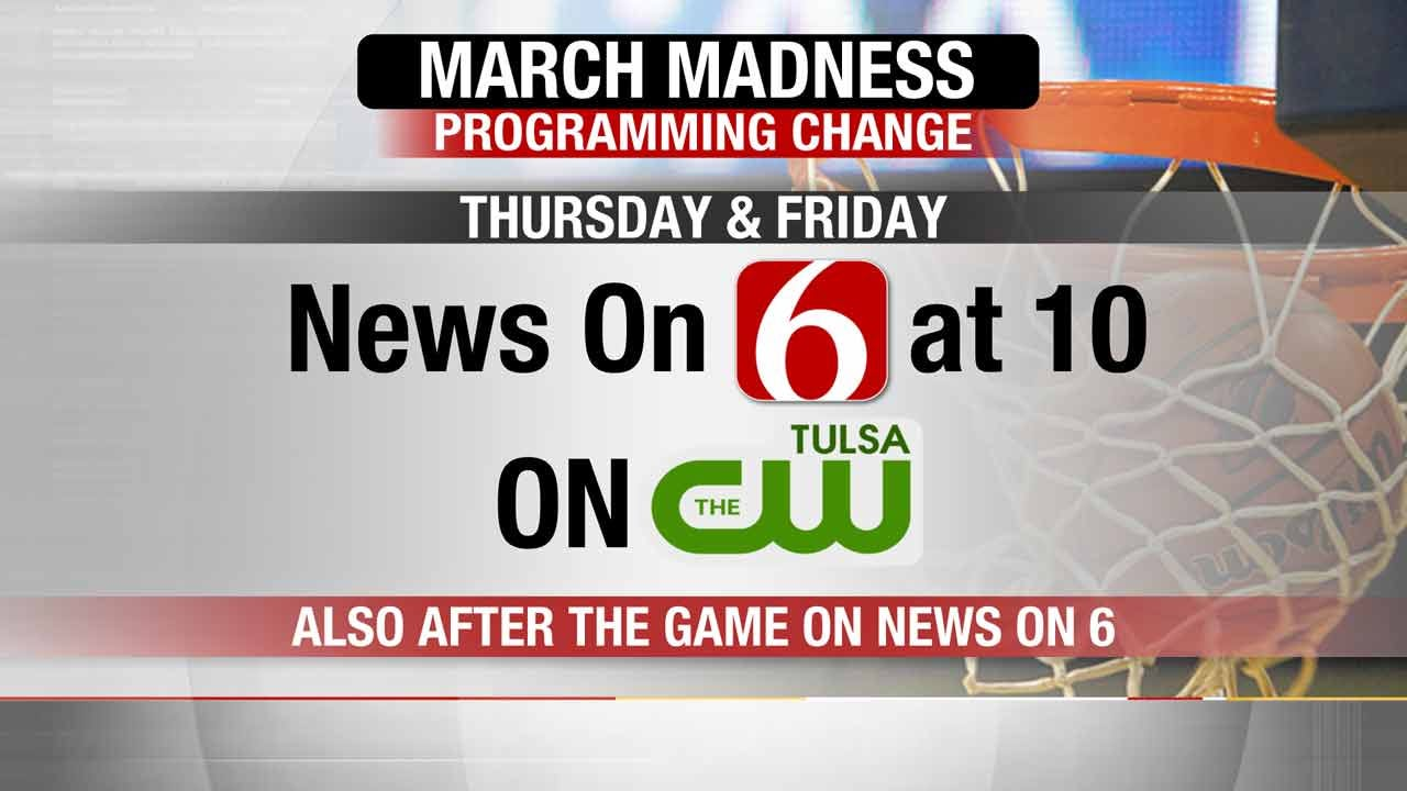 Programming Note: News On 6 at 10 To Air On KQCW During March Madness