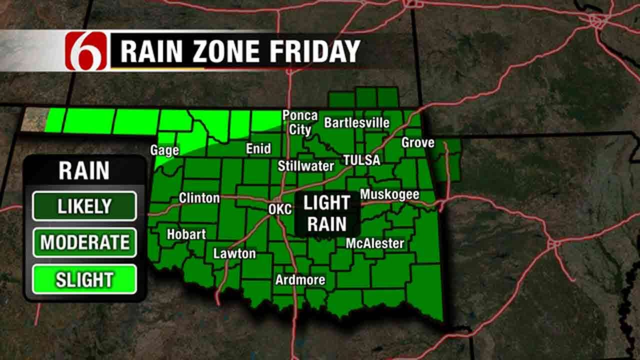 Rain, Potential Freeze In The Forecast For Green Country