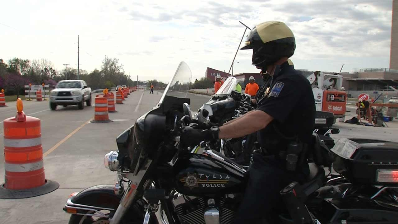 Tulsa Officers Enforcing Speed Limit, Keeping Construction Workers Safe