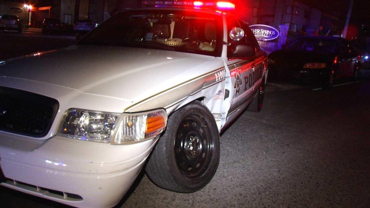 Tulsa Police Officer Involved In Injury Crash