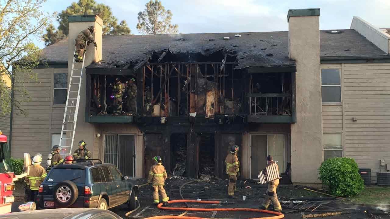 Fire Burns Several Units At Tulsa Apartment Complex