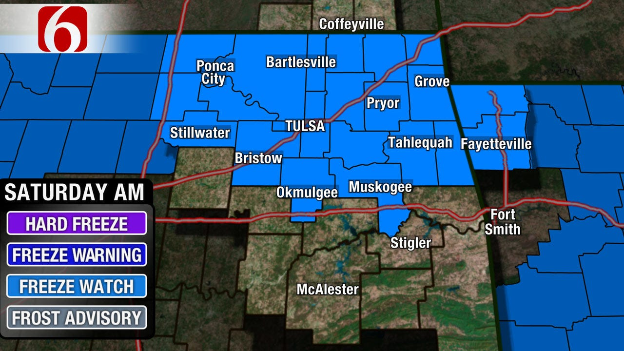Freeze Watch Issued For The End Of Oklahoma's Spring Break