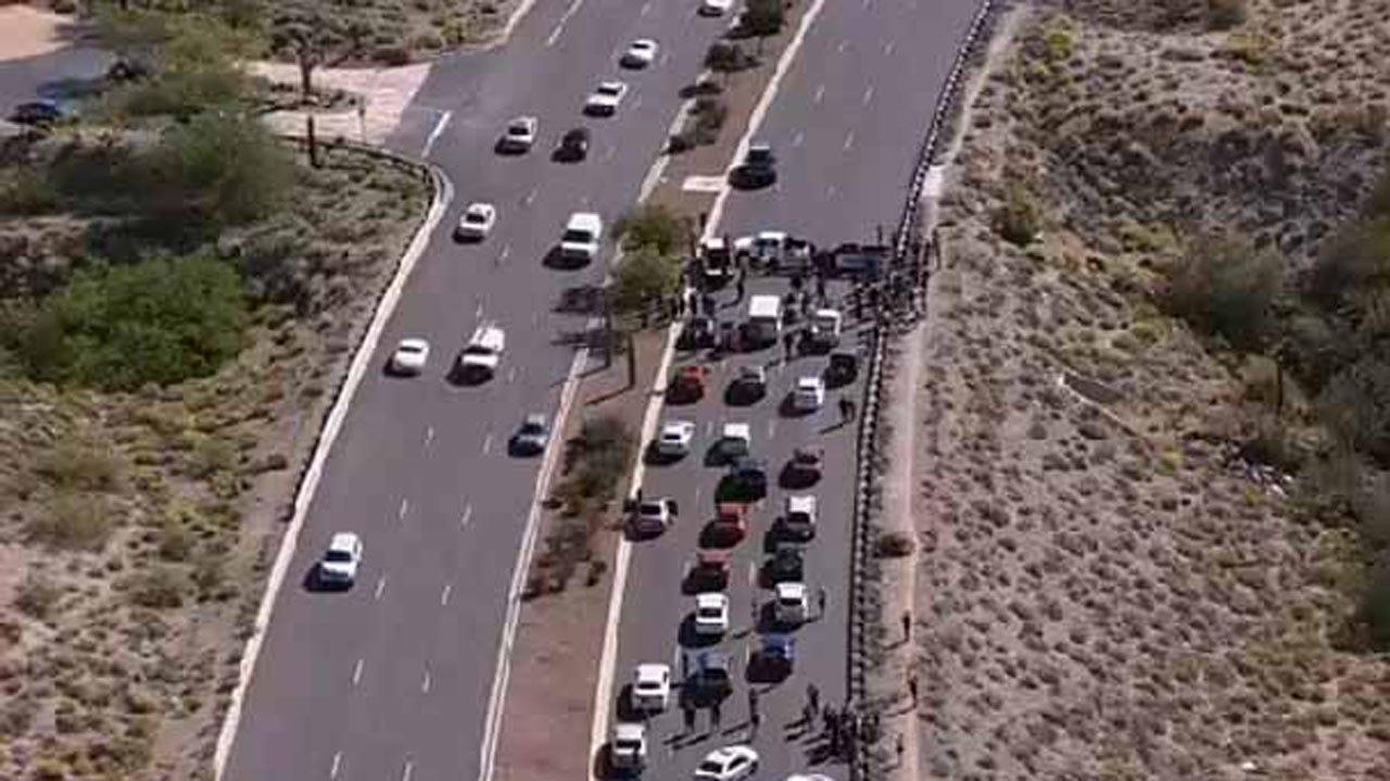 Protests Shut Down Roads Outside Trump's Arizona Rally