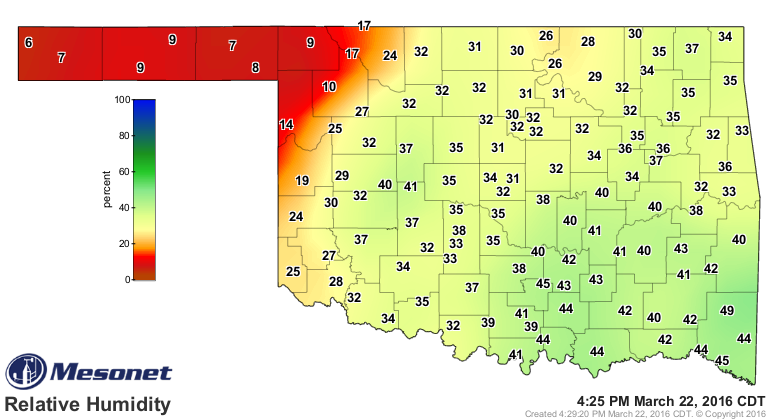 Dick Faurot's Weather Blog: Fire Danger, Chance Of Severe Storms Wednesday