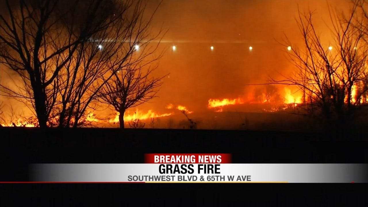 Firefighters Believe Train Sparked Tulsa County Grass Fire