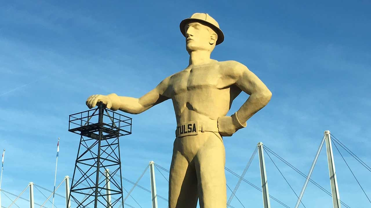 Tulsa's Golden Driller Celebrates His 50th With A Big Party