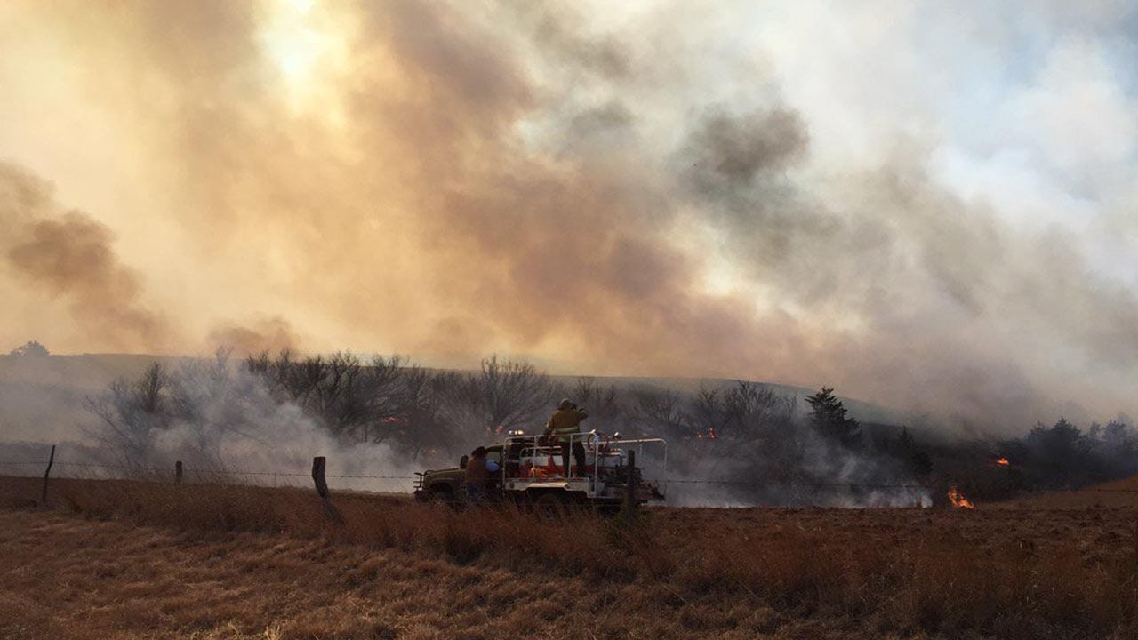 Hay Sought For Kansas, Oklahoma Ranchers Caught In Massive Wildfire