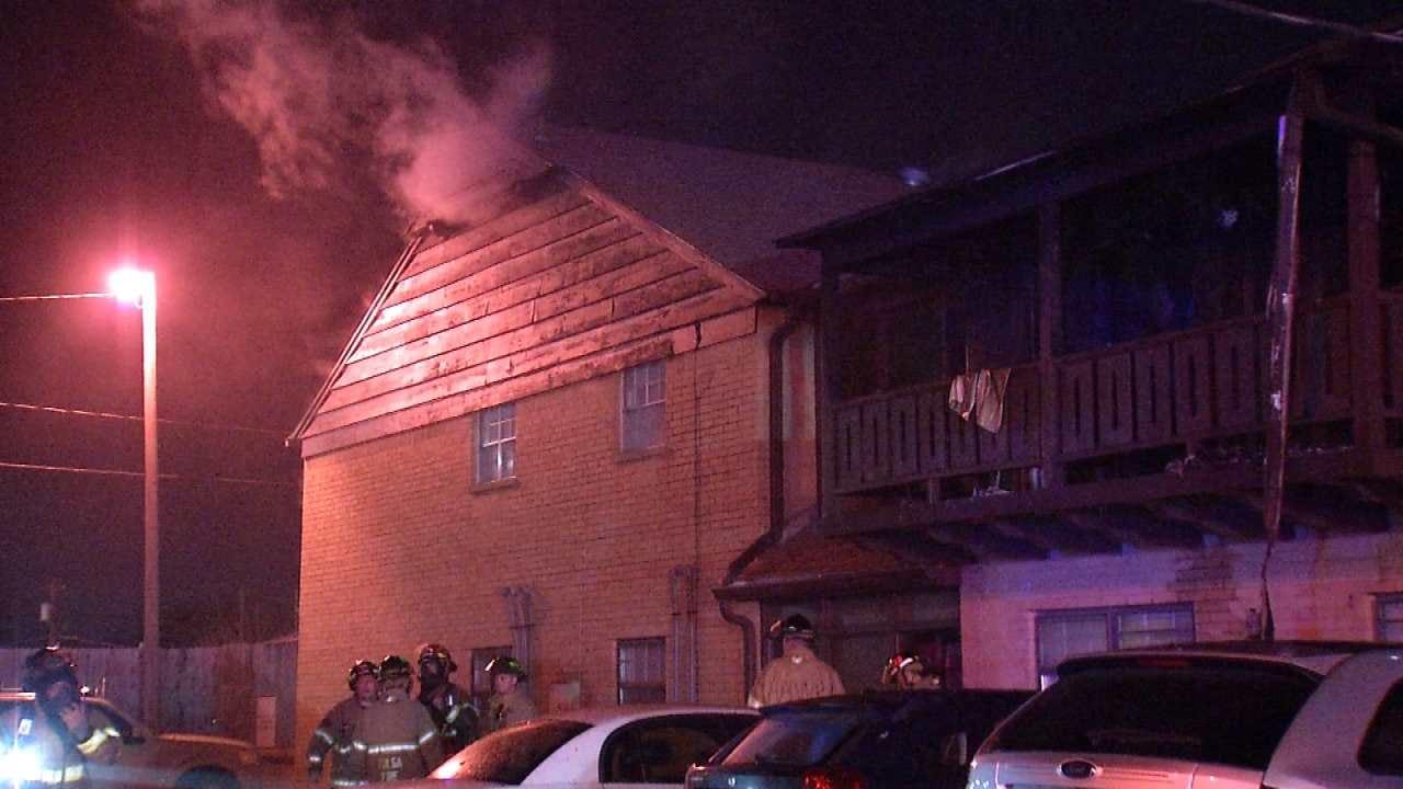 Firefighters Battle Brookside Apartment FIre