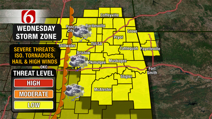 Warmer & Windy Tuesday, Chance Storms Wednesday.