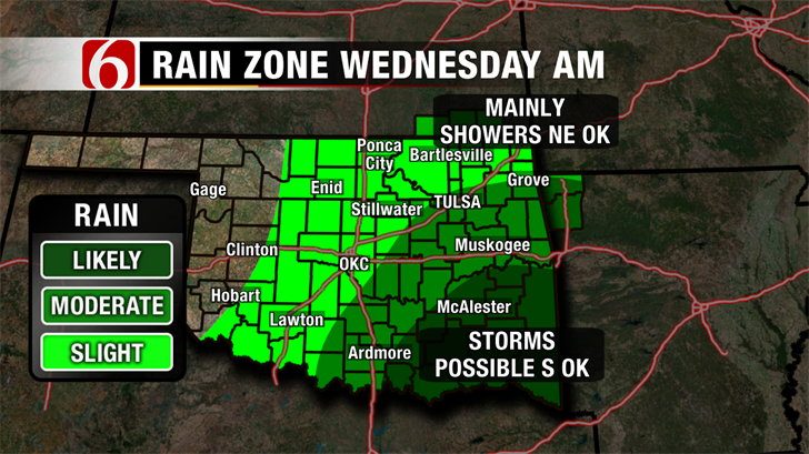 Possible Severe Storms For Wednesday