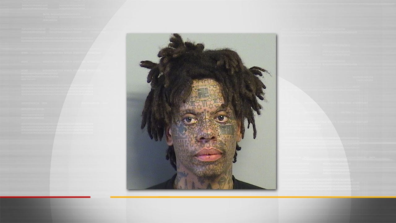 Tulsa Man With Unusual Face Tattoos Arrested Again