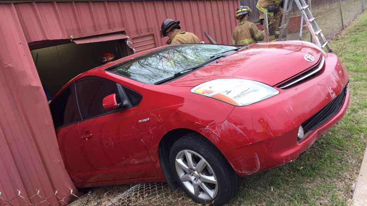 Prius Crashes Through Tulsa Funeral Home
