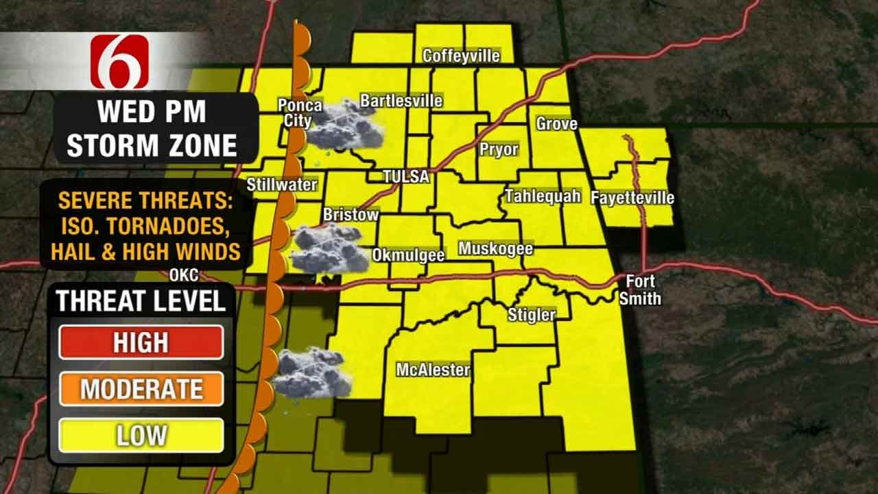 Storms Push Through Oklahoma; Hail, Damaging Winds Possible