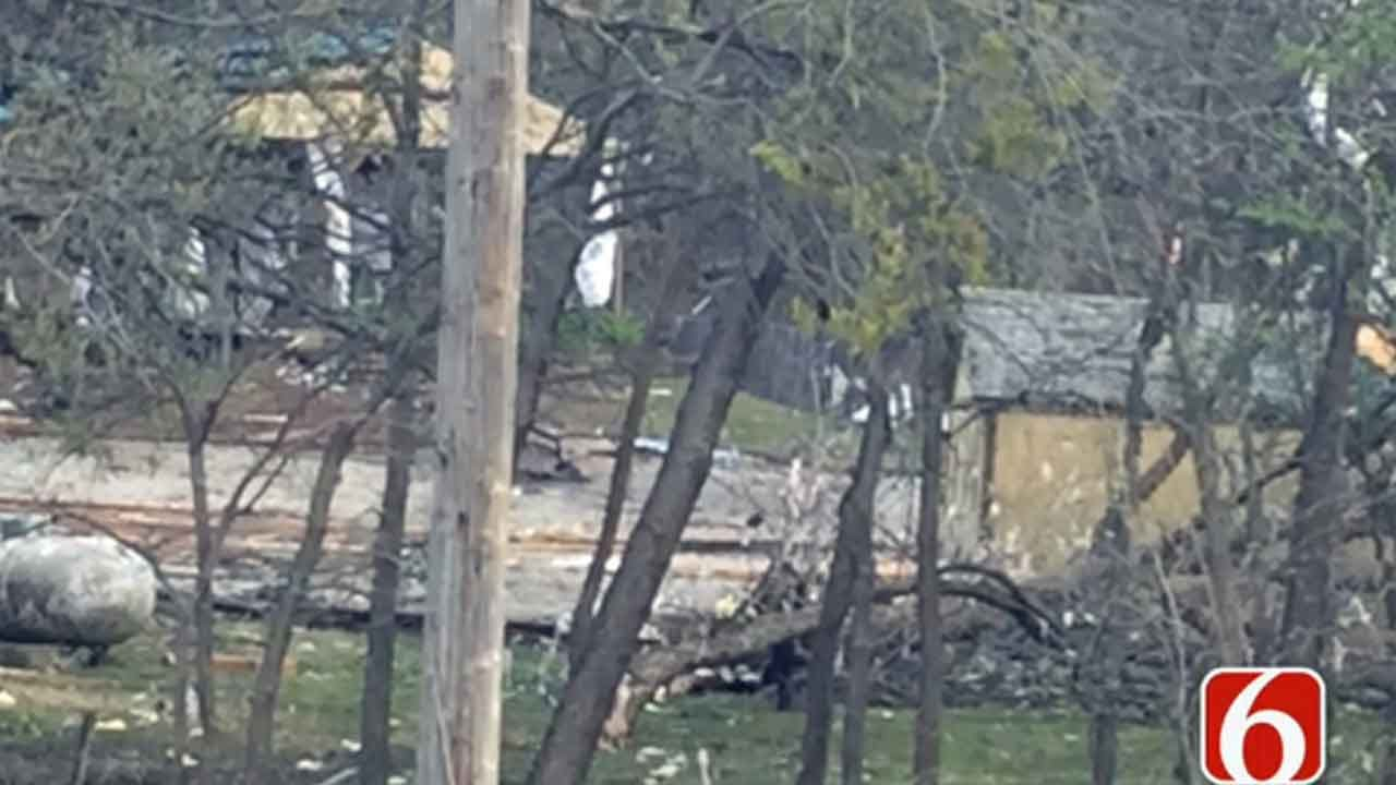 Catoosa's Pecan Porch Chapel Standing Despite Tornado Damage To Restaurant