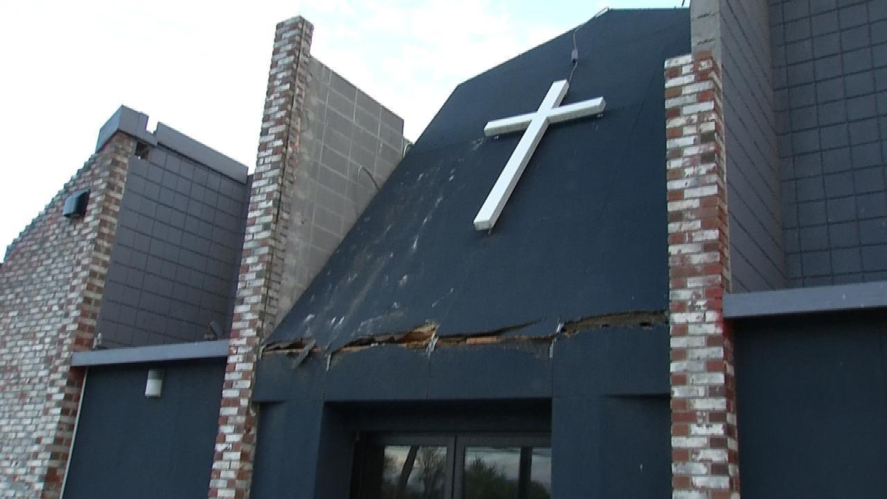 No One Hurt When Tornado Slams Into Tulsa Church