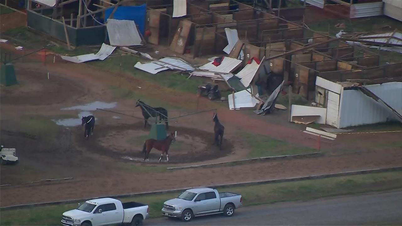 Stables At Claremore's Will Rogers Downs Damaged By Tornado