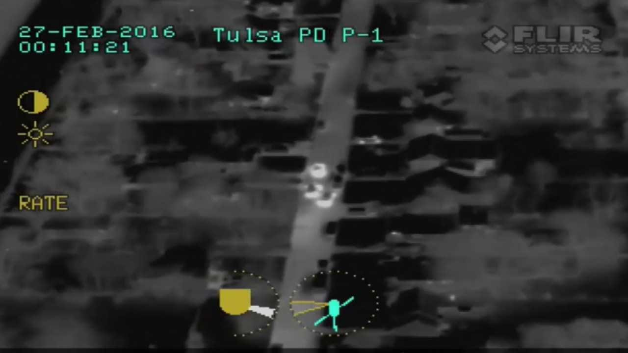 Police Release Helicopter Video Of Tulsa Chase