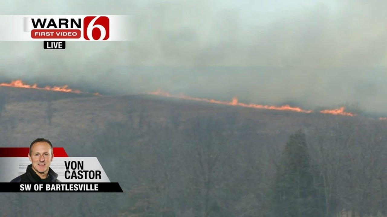 Grass Fires Spread Across Northeastern Oklahoma