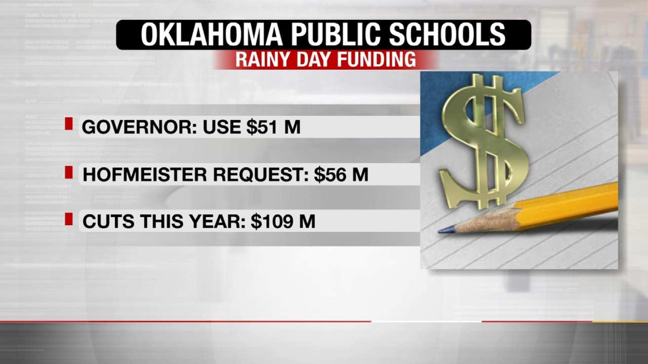State Superintendent: Schools Won't Make It Without Using Rainy Day Fund