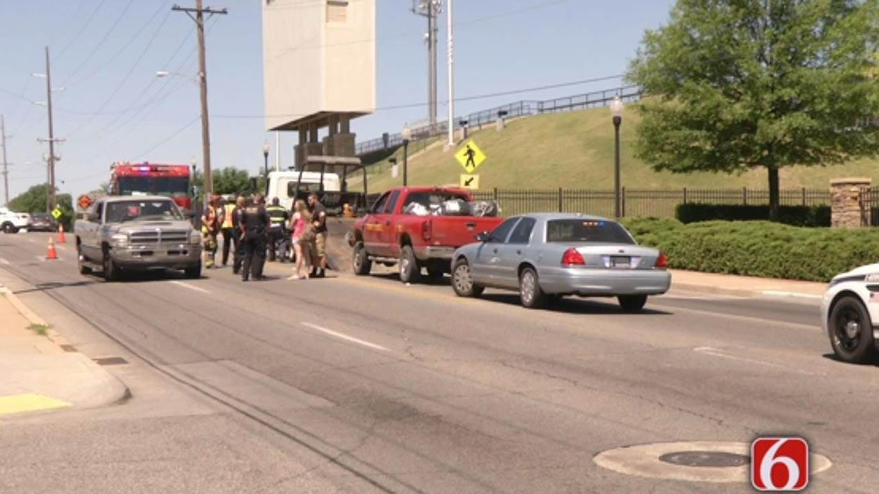 Crash In Front Of TU's Stadium Stops Traffic On 11th Street
