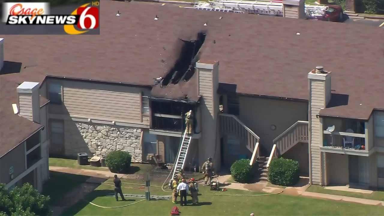 Tulsa Fire Department Battles Apartment Fire