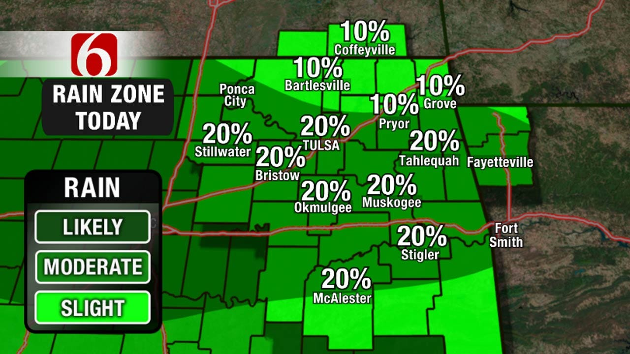 Cool And Wet For The Weekend Across Eastern Oklahoma