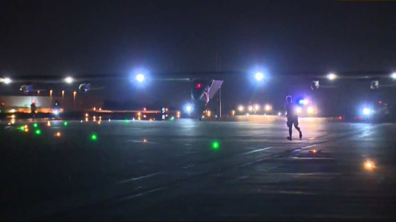 Crowds Fill Tulsa Airport To Get Glance At Solar-Powered Plane