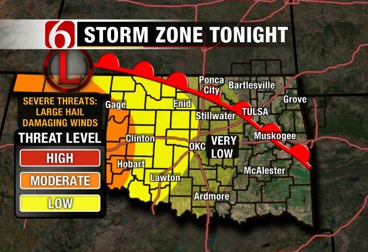 Dick Faurot's Weather Blog: Storm Chances Tonight