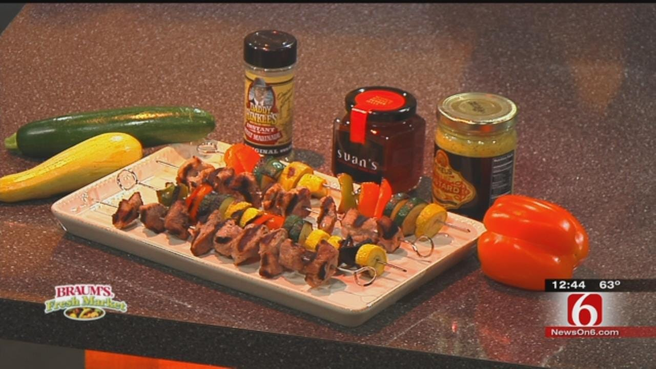 Hot Off The Grill Pork Kabobs