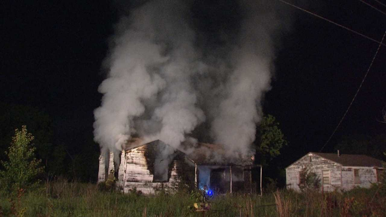 Abandoned Tulsa County Home Destroyed By Fire