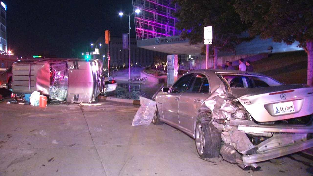 Police: Driver Blames Puppy For Downtown Tulsa Crash