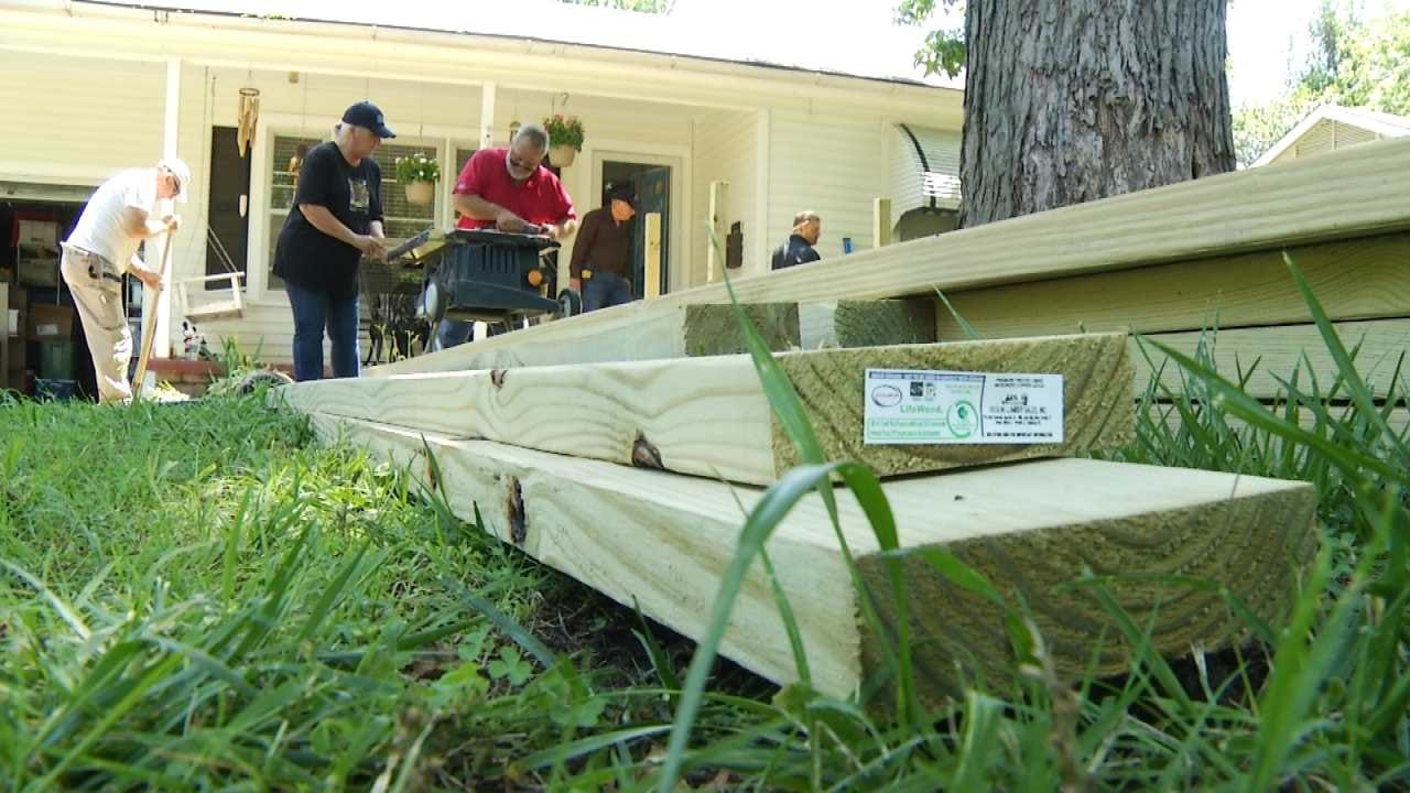 Tulsa Charity Makes Home Wheelchair Accessible for Amputee