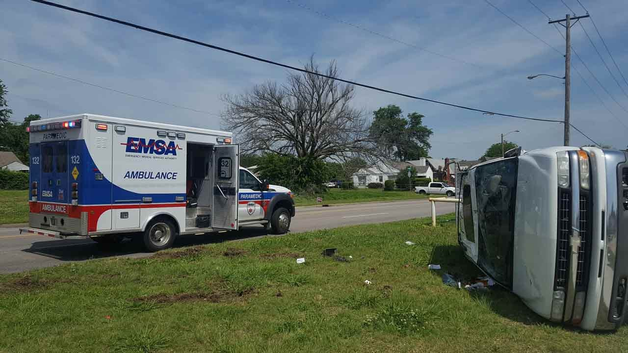 Woman Injured In Tulsa Rollover Wreck