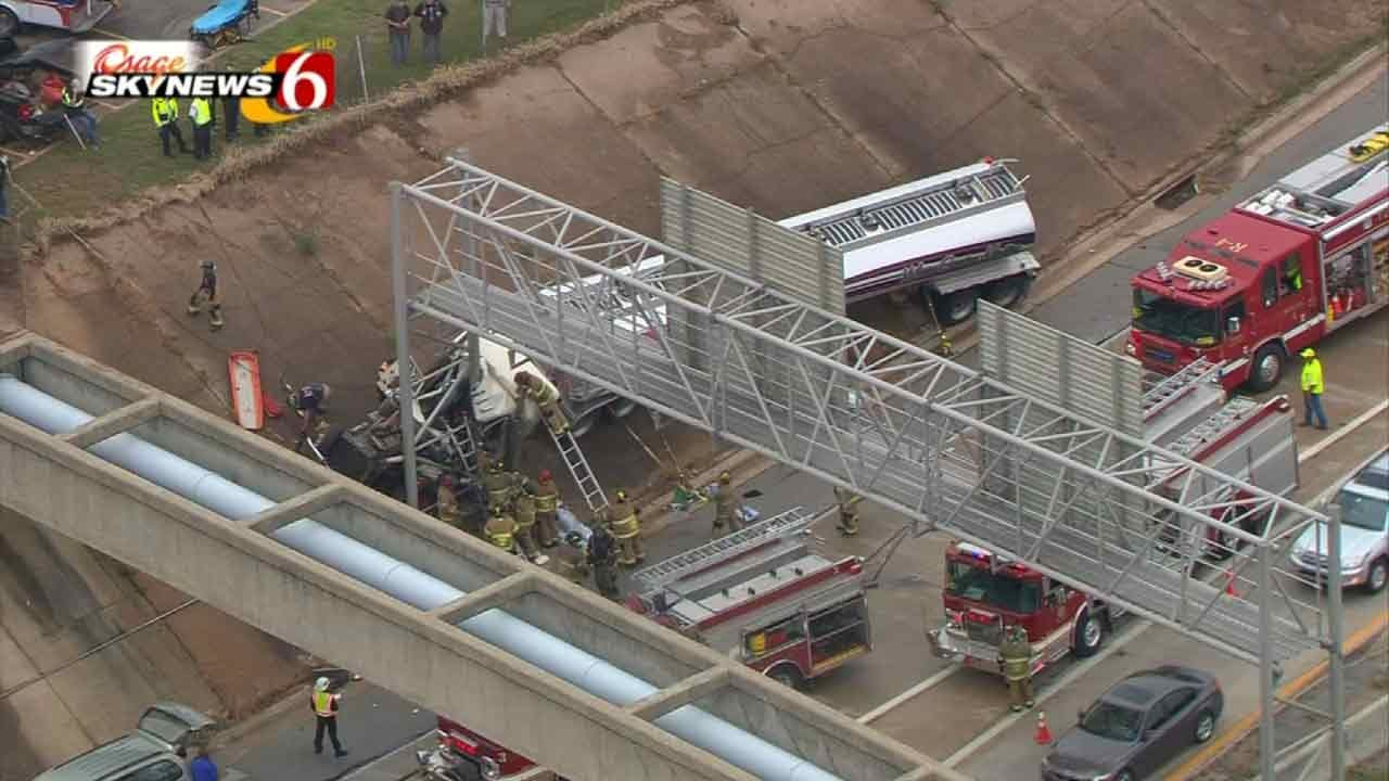 Semi Driver Intentionally Crashed On Tulsa Highway To Save Lives