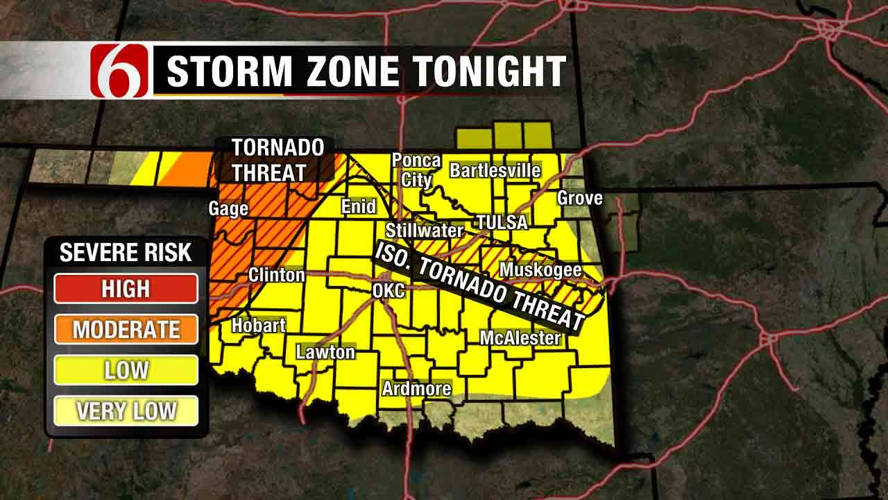 Widely Scattered Thunderstorms Move Across Green Country