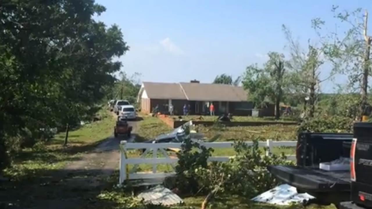 Bristow Tornado Rated EF1, Cleanup Underway