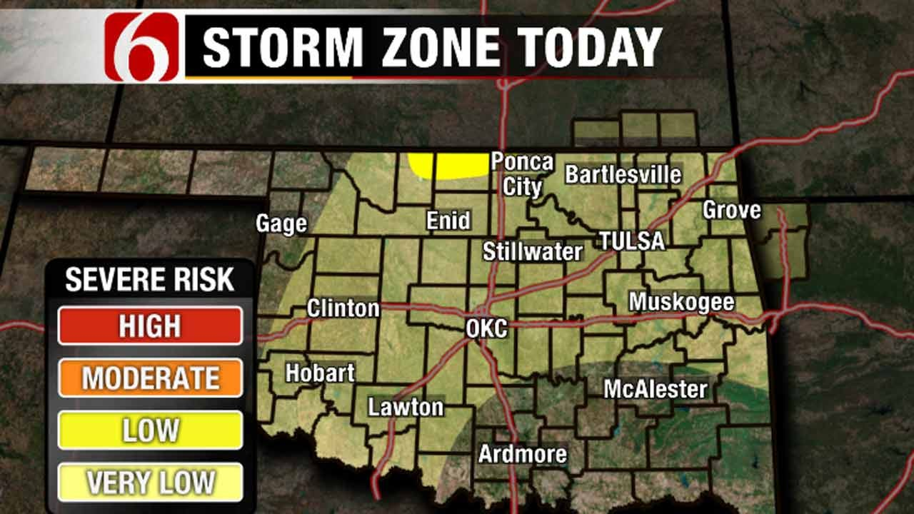 Low Severe Weather Threat Today, Increasing Chances Next Two Days