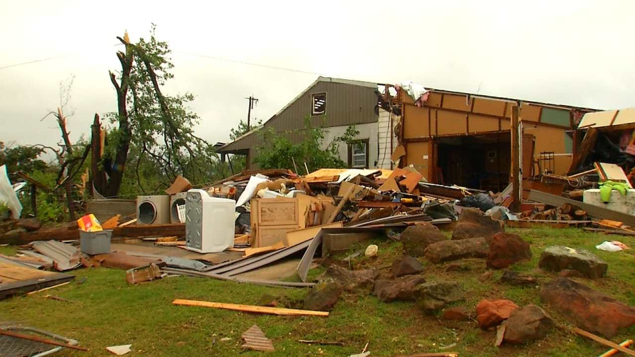 Neighbors Help Creek County Homeowners With Storm Cleanup