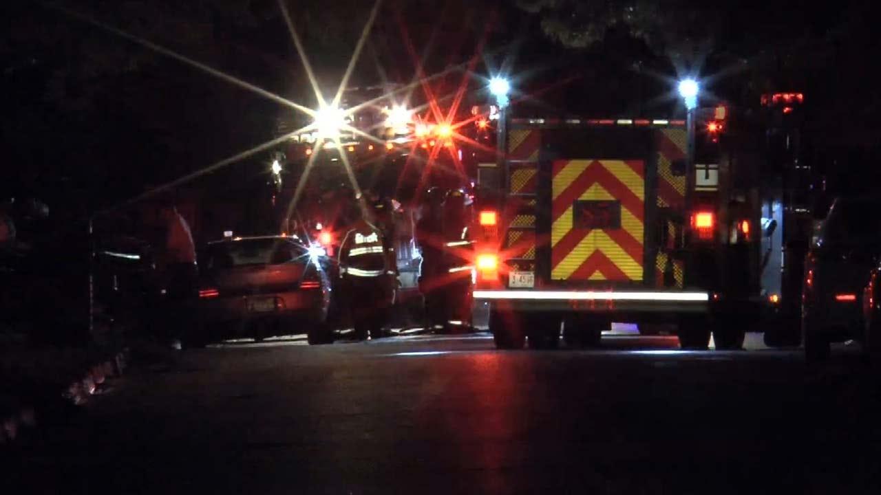 Tulsa Firefighter Shocked Battling House Fire
