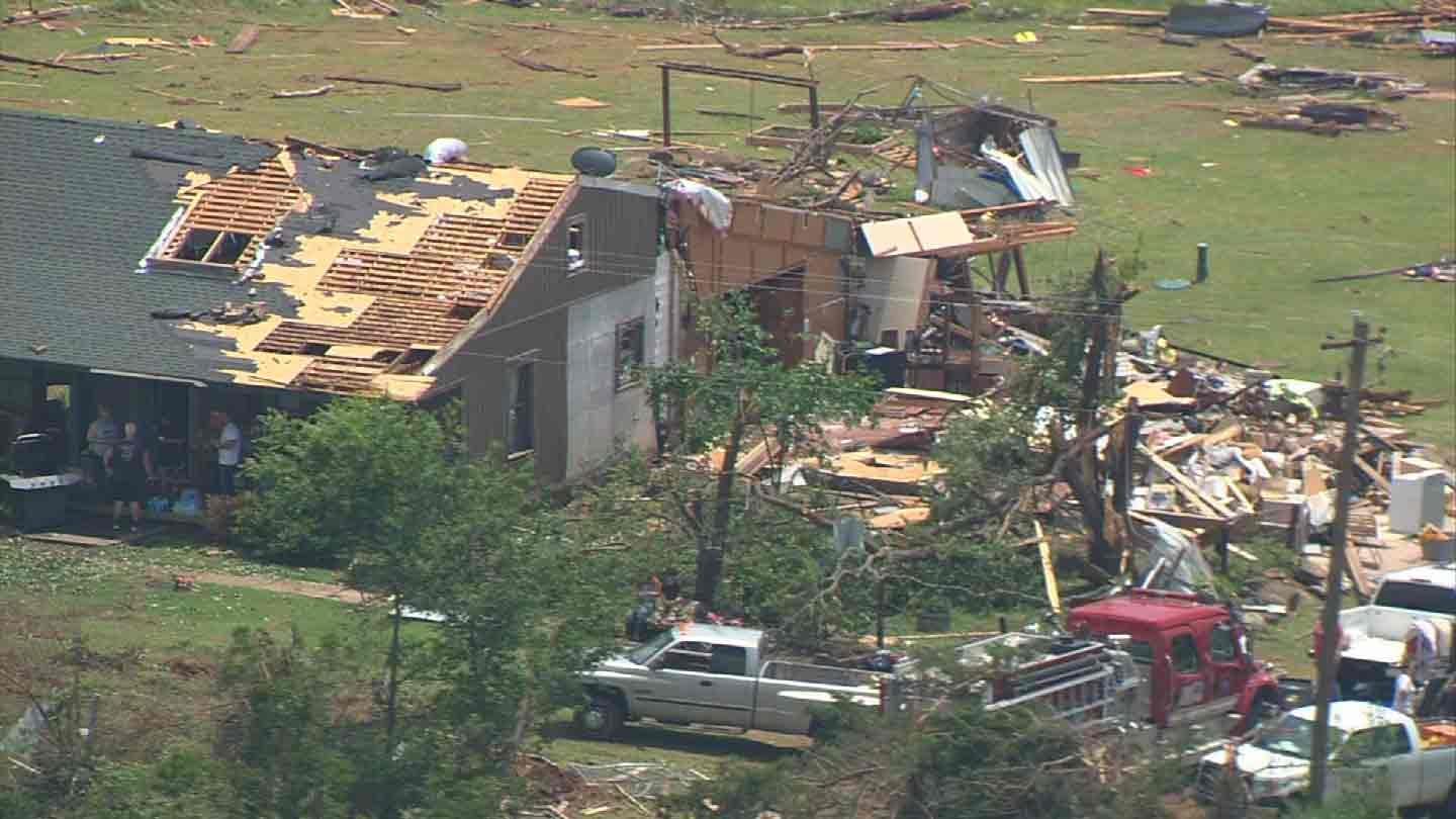NWS: Creek, Okmulgee County Tornadoes Rated EF-1