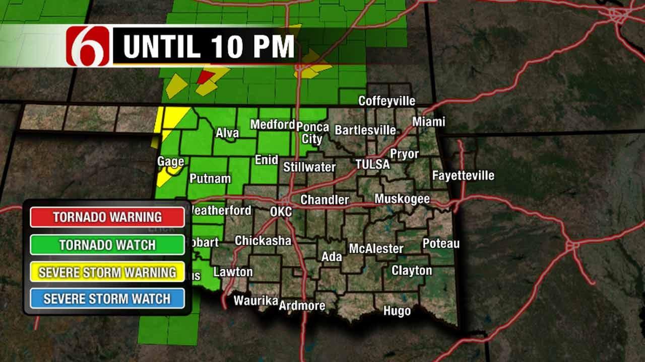 Storms Moving NE From Oklahoma Panhandle